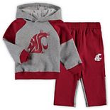 Toddler Heathered Gray Washington State Cougars Sideline Pullover Hoodie & Pants Set