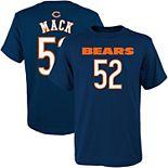 Youth Khalil Mack Navy Chicago Bears Mainliner Name & Number T-Shirt