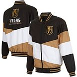 Men's JH Design Black/Gold Vegas Golden Knights Full-Zip Nylon Jacket