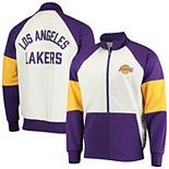 Men's G-III Sports by Carl Banks Purple/White Los Angeles Lakers Warm Up Colorblock Full-Zip Track Jacket