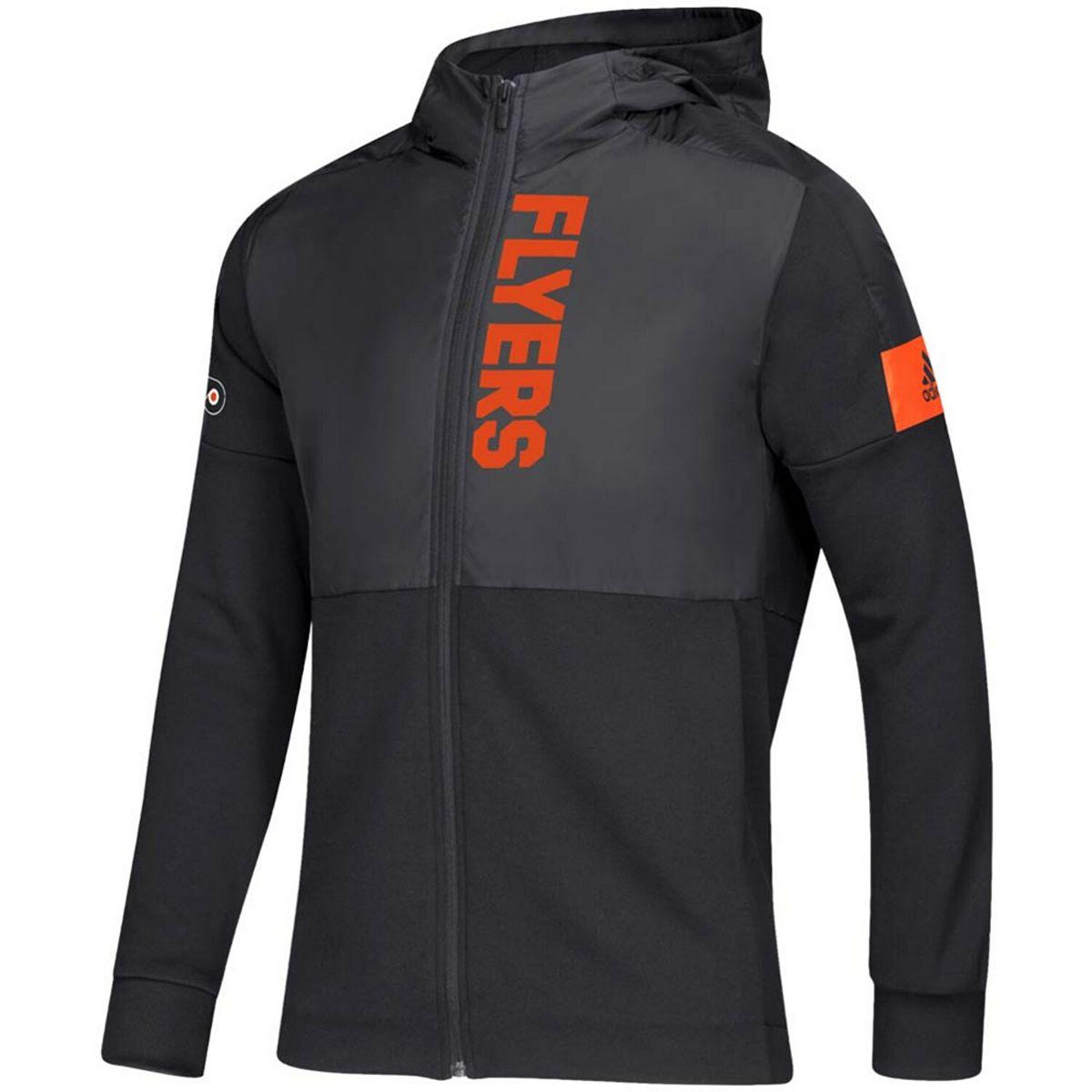 Men's adidas Black Philadelphia Flyers Game Mode Full-Zip Hoodie y8DaN
