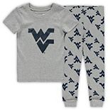 Toddler Heathered Gray West Virginia Mountaineers T-Shirt & Pants Sleep Set