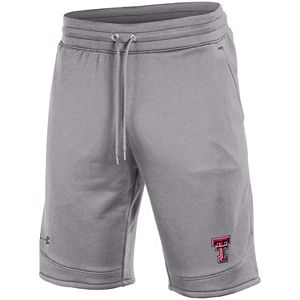 Men's Under Armour Heathered Gray Texas Tech Red Raiders Tech Terry Shorts