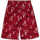 Alabama Crimson Tide Youth Printed Pajama Shorts - Crimson