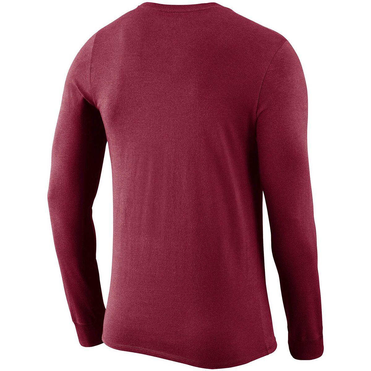 Men's Nike Garnet Florida State Seminoles 2018 Facility Dri-FIT Cotton Long Sleeve T-Shirt 7fuXV