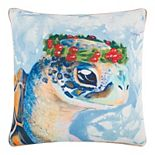 Rizzy Home Holly Turtle Throw Pillow