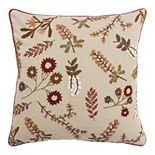 Rizzy Home Sally Sprigs Natural Throw Pillow