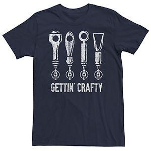 Men's Gettin' Crafty Beer Taps Graphic Tee