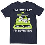 Men's Not Lazy Just Buffering Graphic Tee