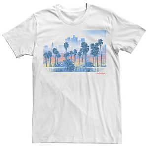 Men's Palm Tree City Scape Poster Graphic Tee