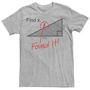 Men's Find X Math Humor Graphic Tee