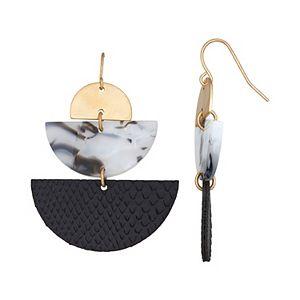 Sonoma Goods For Life® Half Circle Triple Drop Earrings