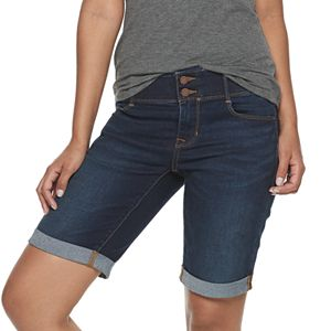 Petite Apt. 9® Tummy Control Bermuda Jean Shorts
