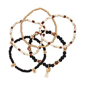 Sonoma Goods For Life® Multi-Colored Wooden Bead Stretch Bracelet Set