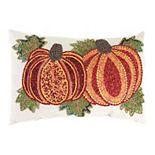 Jordan Manufacturing Beaded Pumpkin Throw Pillow