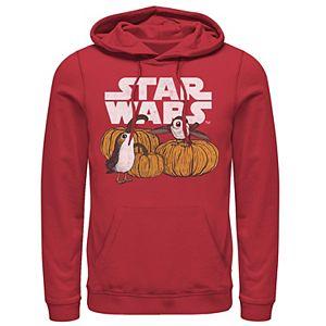 Men's Star Wars Porg Pumpkin Patch Halloween Graphic Hoodie