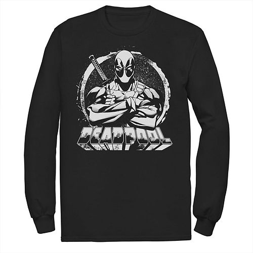 Marvel Girls Deadpool Crossed Arms Logo Hoodie
