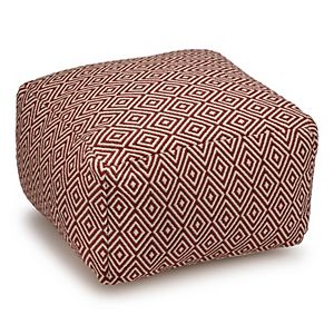 Sonoma Goods For Life® Outdoor/Indoor Geo Woven Pouf
