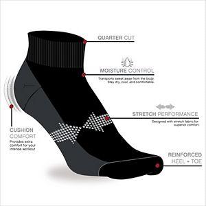 Men's Reebok 6-pack Quarter Socks