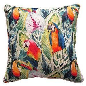 HFI Birdy Rainbow Throw Pillow