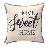 """HOME SWEET HOME"" Embellished Throw Pillow"