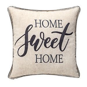 """""""HOME SWEET HOME"""" Embellished Throw Pillow"""