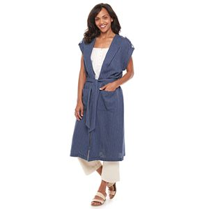 Women's Sonoma Goods For Life® + Now & Gen Long Linen-Blend Jacket