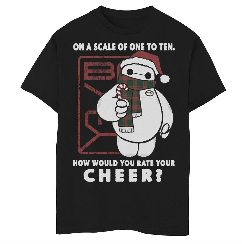 Disney's Big Hero 6 Boys 8-20 Baymax How Would You Rate Your Cheer Graphic Tee