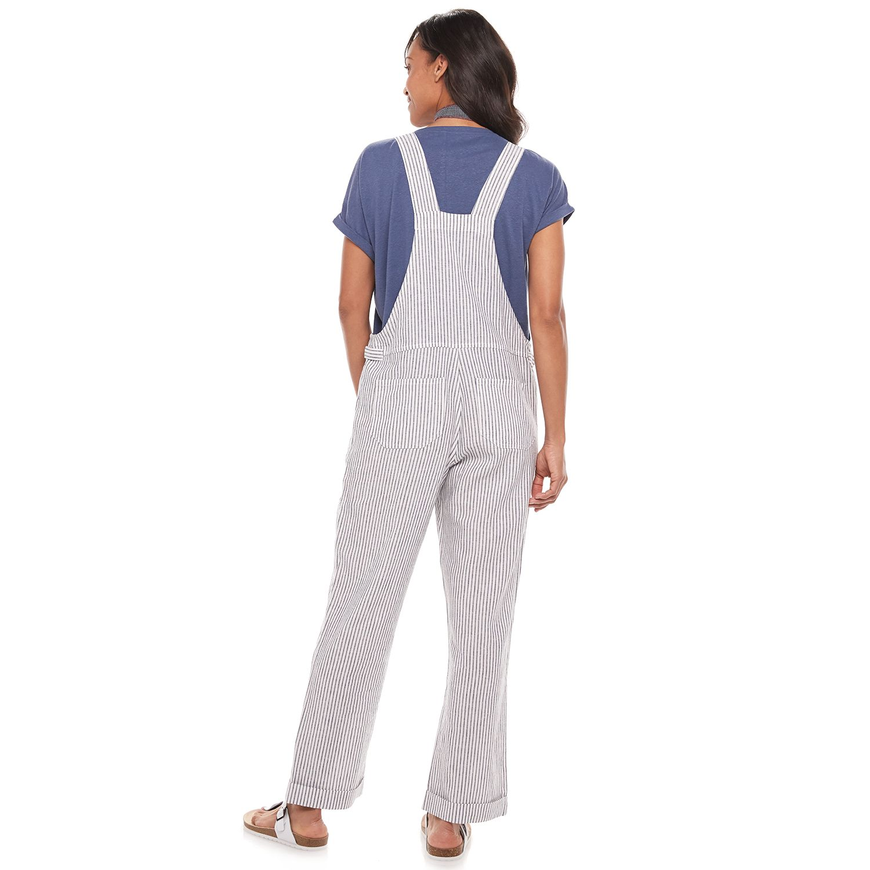 Women's Now + Gen by Sonoma Goods For Life® Linen-Blend Overalls