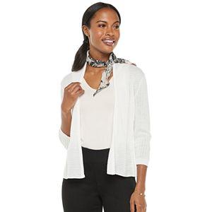 Women's Apt. 9® 3/4 Sleeve Peplum Cardigan