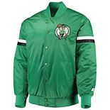 Men's Starter Green Boston Celtics The Champ Varsity Satin Jacket