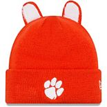 Youth New Era Orange Clemson Tigers Cozy Cutie Cuffed Knit Hat