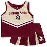 Girls Toddler Colosseum Garnet/Gold Florida State Seminoles Pom Pom Cheer Set