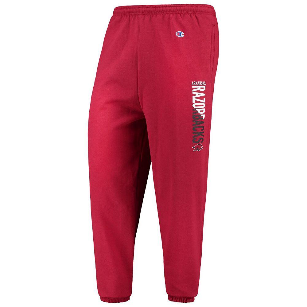 Men's Champion® Cardinal Arkansas Razorbacks MVP Eco Powerblend Banded Pants