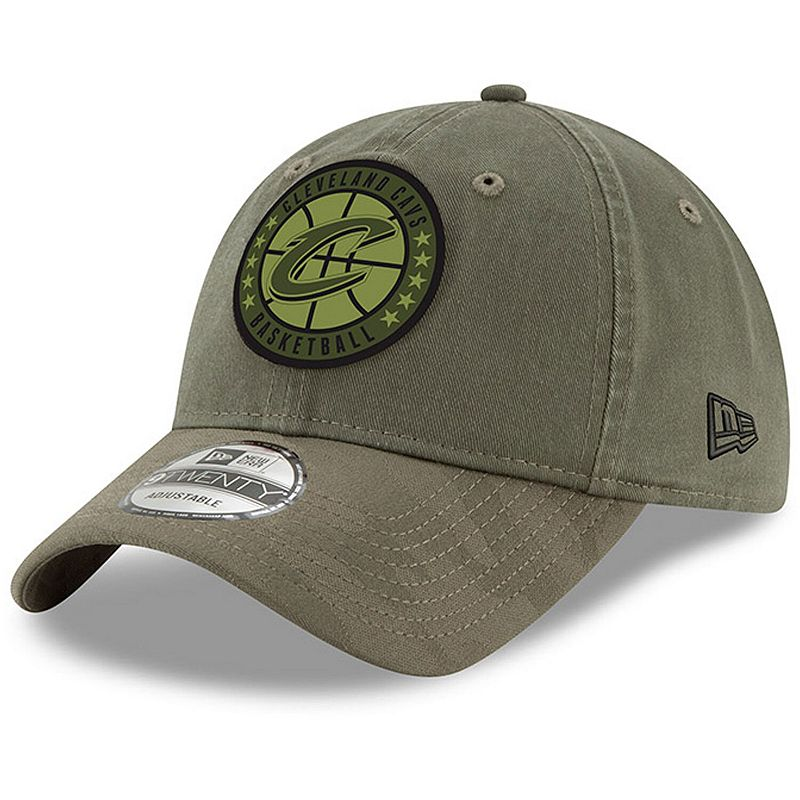 Men's New Era Olive Cleveland Cavaliers 2018 Tip-Off Series 9TWENTY Adjustable Hat, Green