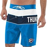 Men's G-III Sports by Carl Banks Blue/Navy Oklahoma City Thunder All-Star Striped Swim Trunks