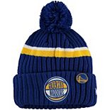 Youth New Era Royal Golden State Warriors 2019 NBA Draft Cuffed Knit Hat