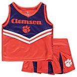 Girls Toddler Colosseum Orange/Purple Clemson Tigers Pom Pom Cheer Set