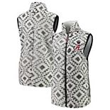 Women's Pressbox White Alabama Crimson Tide Tribal Printed Poodle Fleece Vest