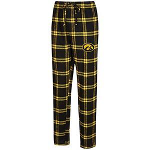 Men's Concepts Sport Black/Gold Iowa Hawkeyes Big & Tall Homestretch Flannel Pants