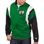 Men's Starter Kelly Green/Black Boston Celtics The Contender Tricot Full-Zip Track Jacket