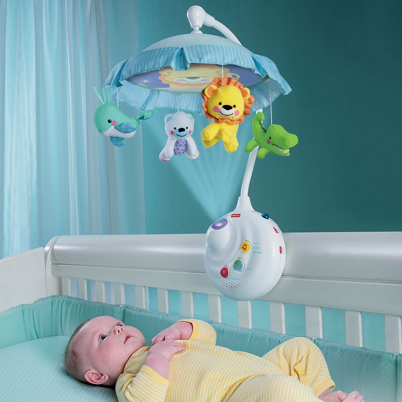 Fisher-Price 2-in-1 Projection Mobile (White)