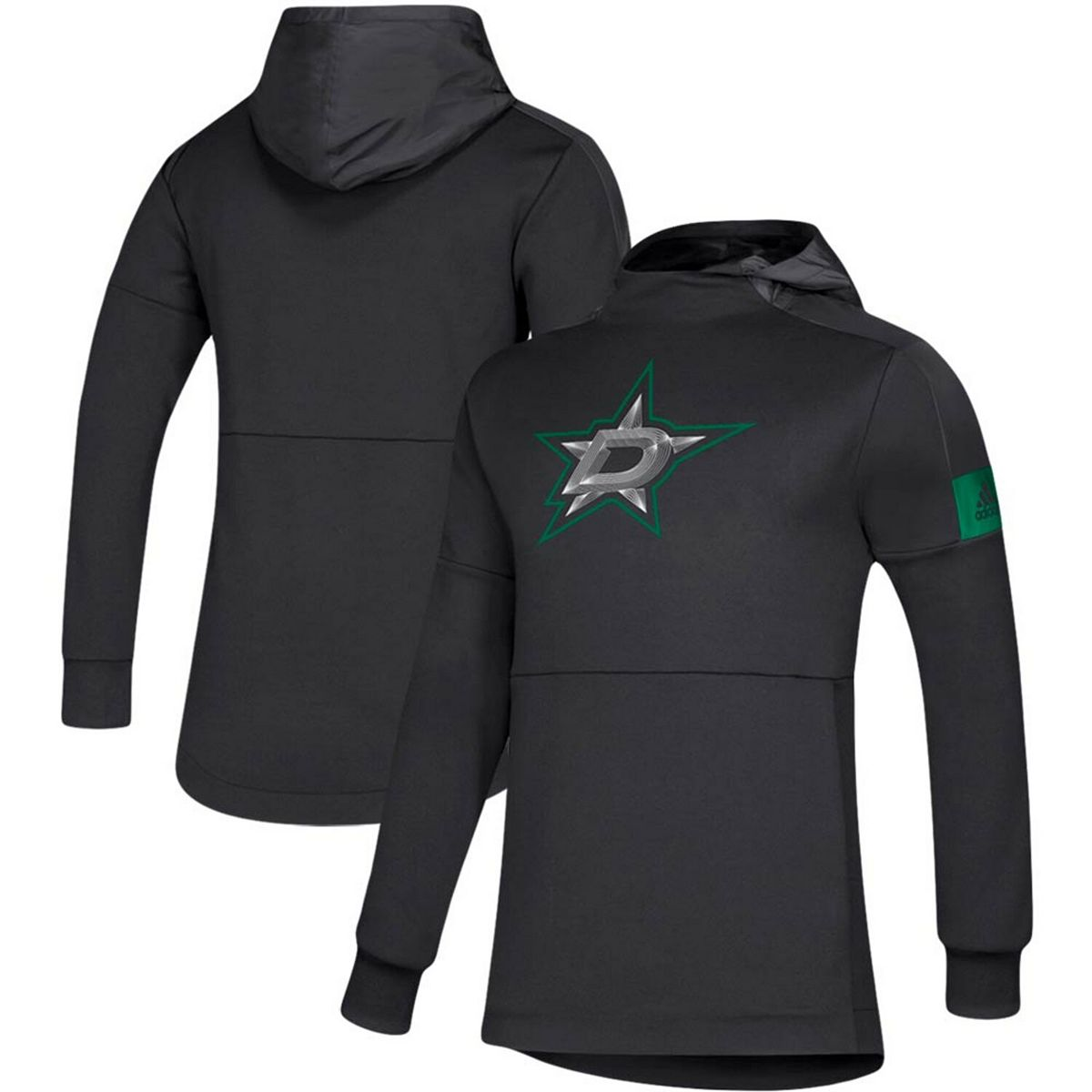 Men's adidas Black Dallas Stars Game Mode Pullover Hoodie V153h