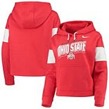 Women's Nike Scarlet Ohio State Buckeyes Local Pullover Hoodie