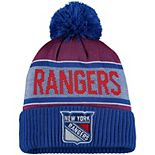 Men's Fanatics Branded Blue New York Rangers Team Pride Cuffed Knit Hat with Pom