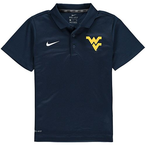 Youth Nike Navy West Virginia Mountaineers Varsity Performance Polo