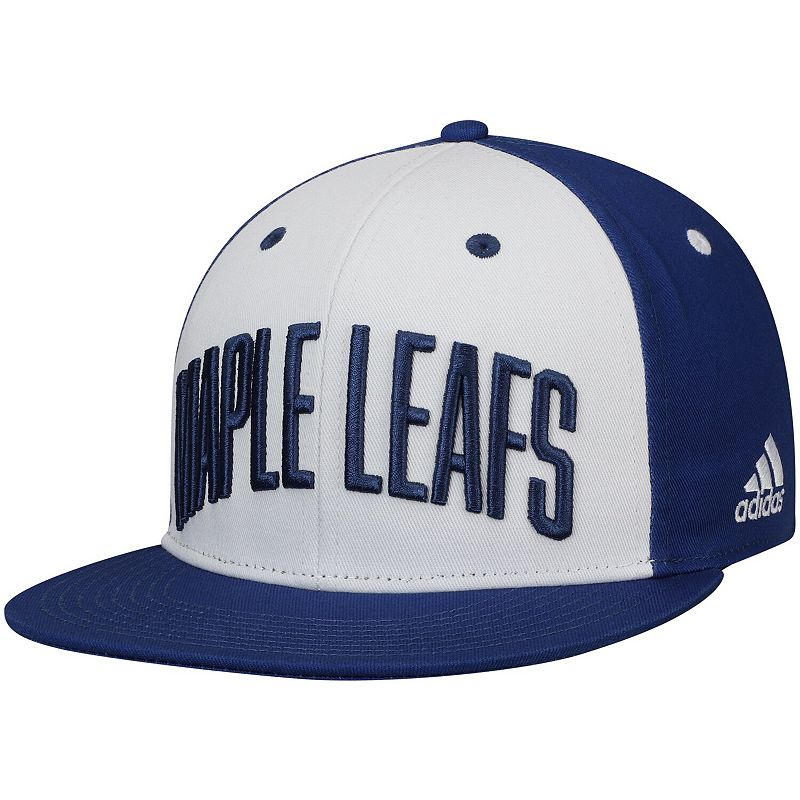 Men's adidas White/Blue Toronto Maple Leafs Sport Large Team Snapback Hat