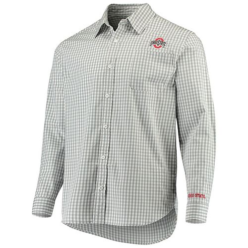 NCAA Mens Ohio State Buckeyes Striped Necktie Scarlet//Grey