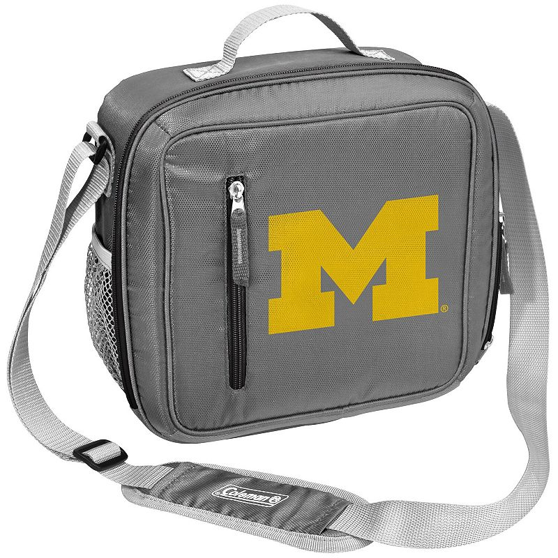 Coleman Michigan Wolverines Team Logo Messenger Cooler, Grey