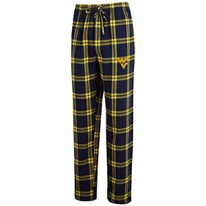 Men's Concepts Sport Navy/Gold West Virginia Mountaineers Big & Tall Homestretch Flannel Pants